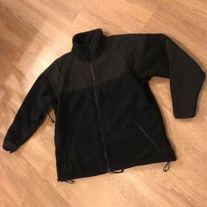 Black Military Fleece Jacket